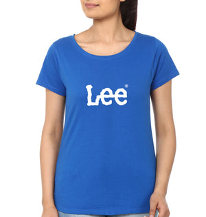 Lee T-Shirt for Women-XS(32 Inches)-Royal Blue-ektarfa.com