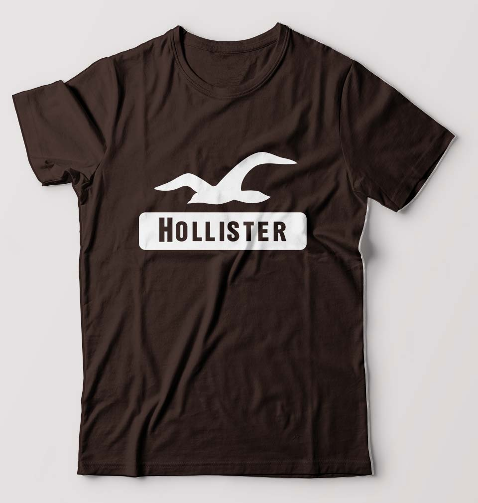 Hollister T-Shirt for Men-S(38 Inches)-Coffee Brown-ektarfa.com