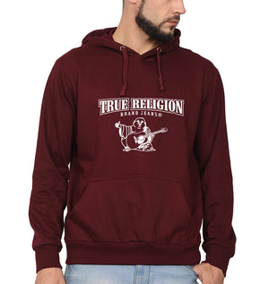 True Religion Hoodie for Men-S(40 Inches)-Maroon-ektarfa.com