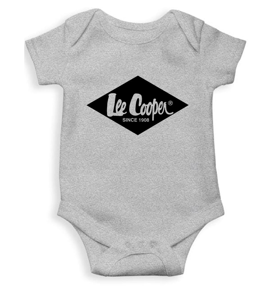 Lee Cooper Romper For Baby Boy-0-5 Months(18 Inches)-Grey-ektarfa.com