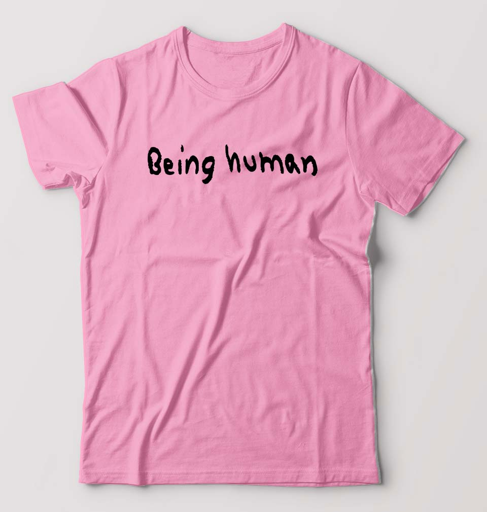 Being Human T-Shirt for Men-S(38 Inches)-Light Baby Pink-ektarfa.com