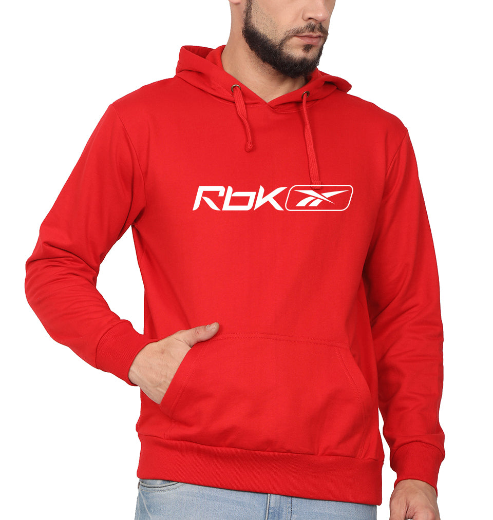 Reebok(RBK) Hoodie for Men-S(40 Inches)-Red-ektarfa.com