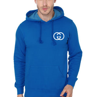 Gucci Logo Hoodie for Men-S(40 Inches)-Royal Blue-ektarfa.com