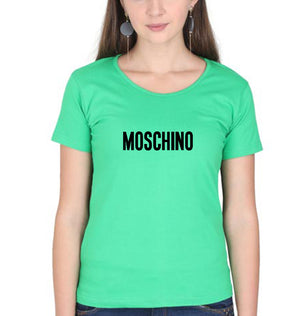 Moschino T-Shirt for Women-XS(32 Inches)-Flag Green-ektarfa.com