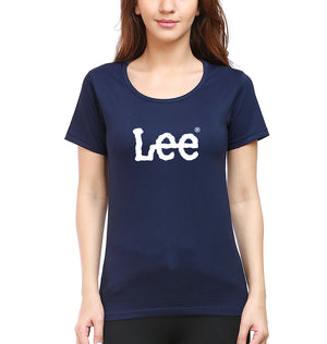 Lee T-Shirt for Women-XS(32 Inches)-Navy Blue-ektarfa.com