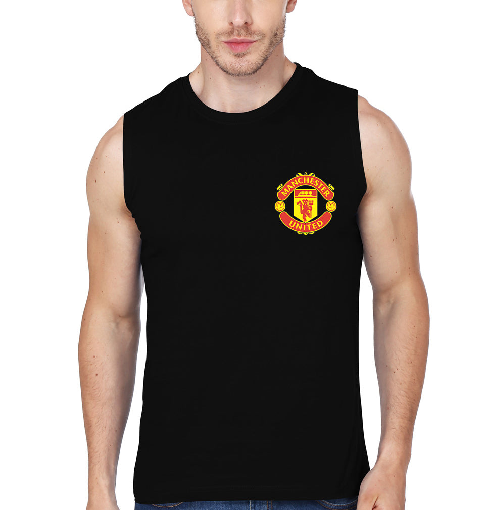Manchester United Logo Sleeveless T-Shirt for Men