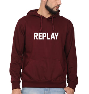 Replay Hoodie for Men-S(40 Inches)-Maroon-ektarfa.com