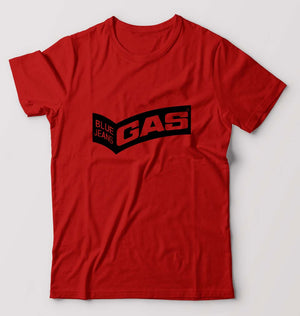 Gas T-Shirt for Men-S(38 Inches)-Red-ektarfa.com