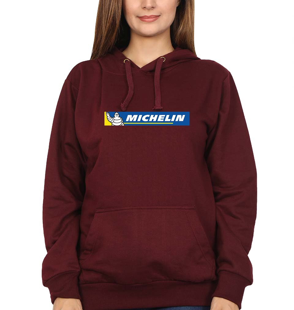 Michelin Hoodie for Women-S(40 Inches)-Maroon-ektarfa.com