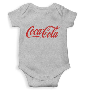 Coca Cola Romper For Baby Boy-0-5 Months(18 Inches)-Grey-ektarfa.com