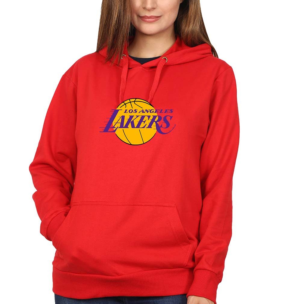 Los Angeles Lakers Hoodie for Women-S(40 Inches)-Red-ektarfa.com