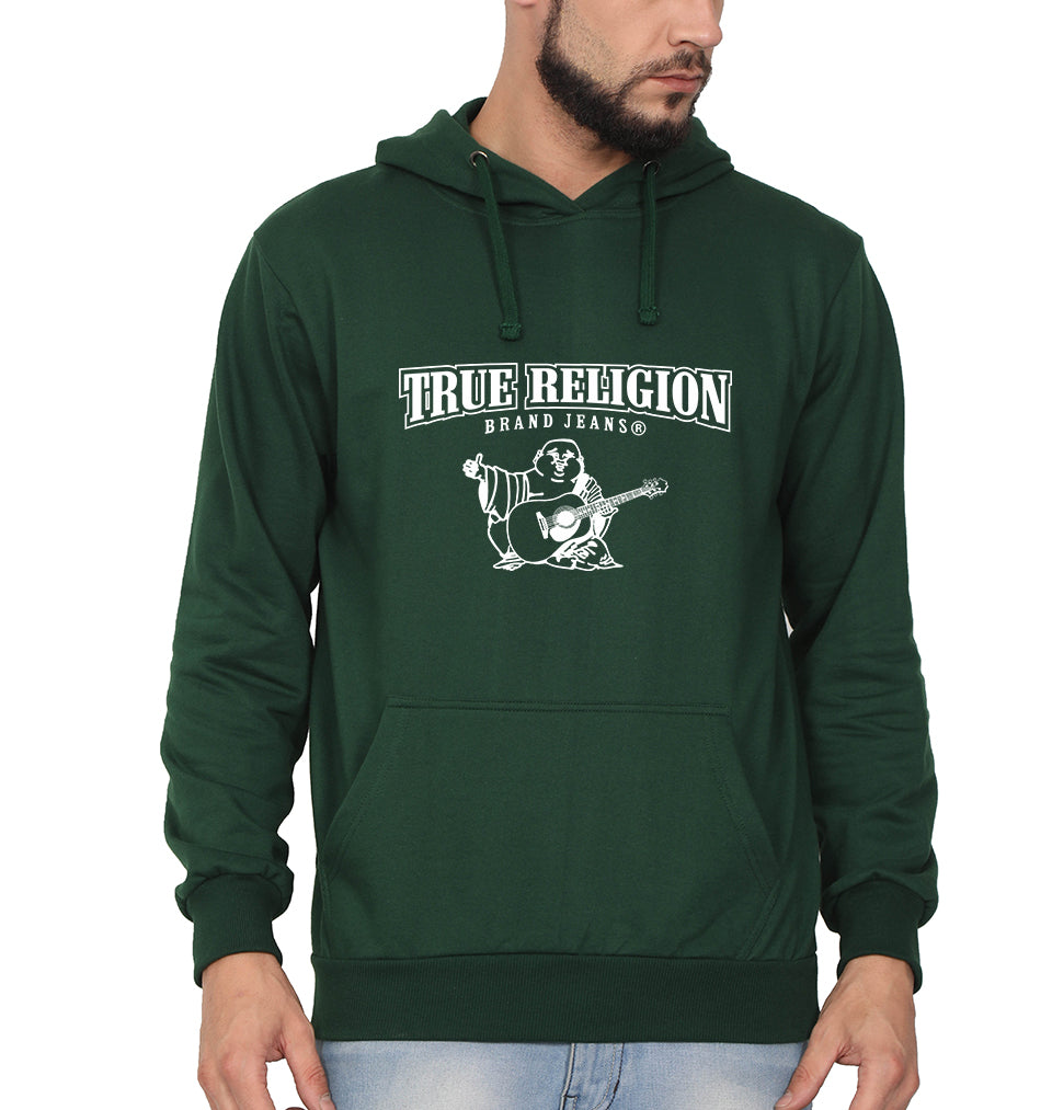 True Religion Hoodie for Men-S(40 Inches)-Dark Green-ektarfa.com