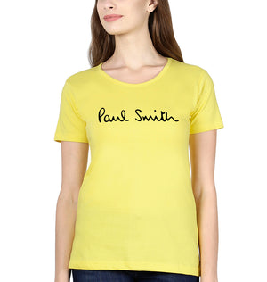 Paul Smith T-Shirt for Women-XS(32 Inches)-Yellow-ektarfa.com