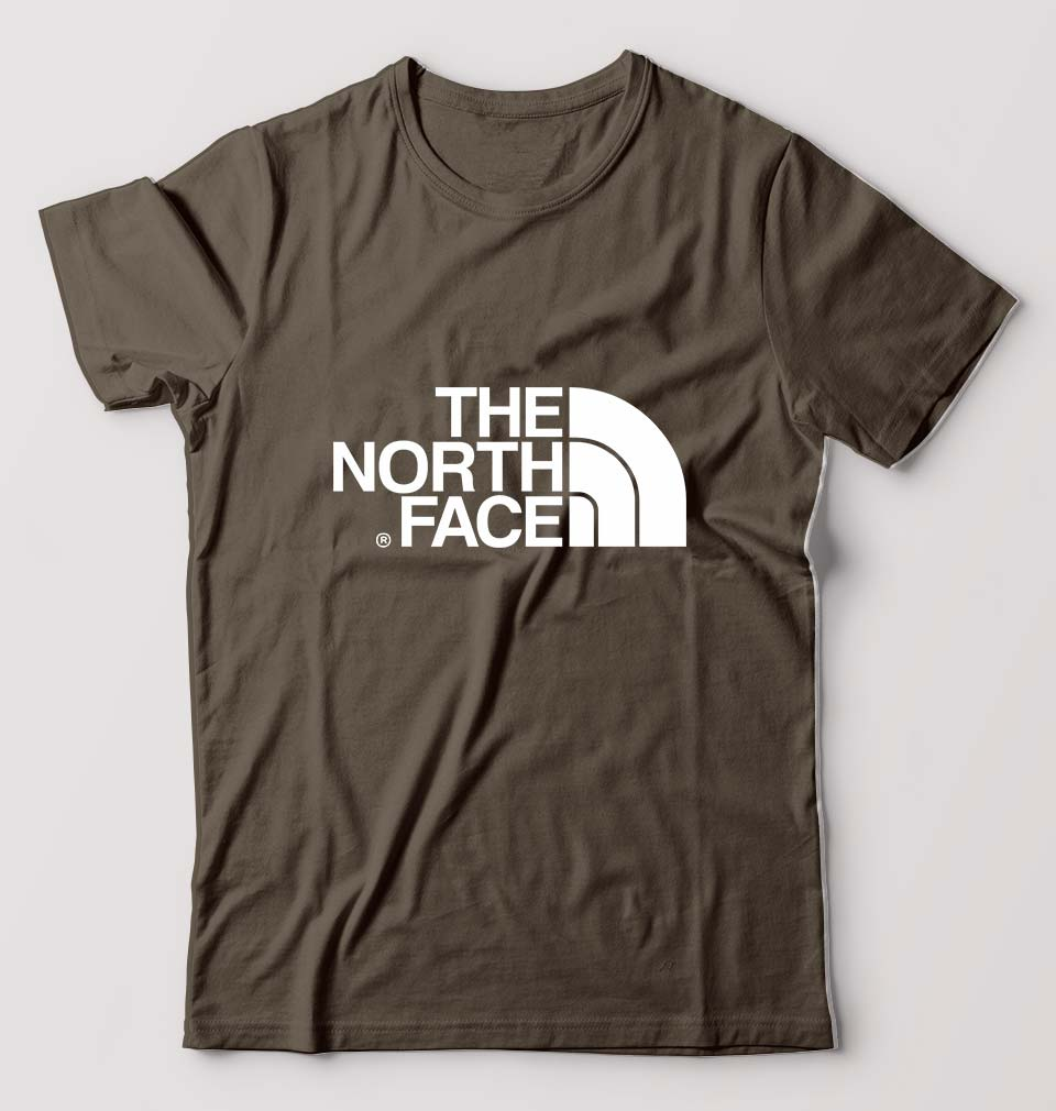 The North Face T-Shirt For Men-M(40 Inches)-Olive Green-ektarfa.com