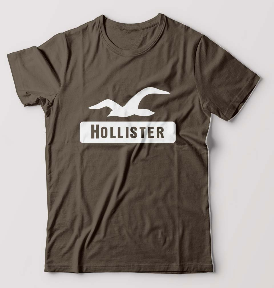 Hollister T-Shirt for Men-S(38 Inches)-Olive Green-ektarfa.com