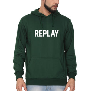 Replay Hoodie for Men-S(40 Inches)-Dark Green-ektarfa.com