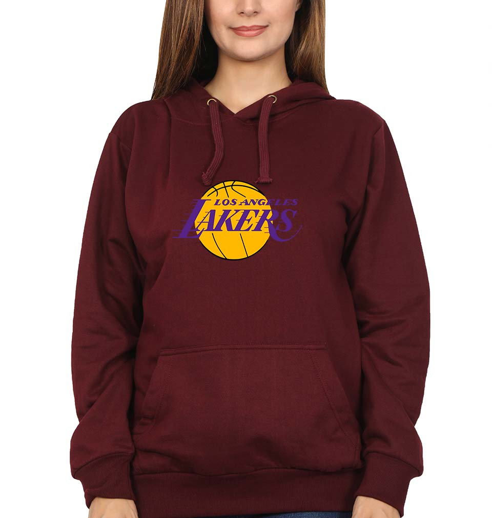 Los Angeles Lakers Hoodie for Women-S(40 Inches)-Maroon-ektarfa.com