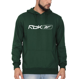 Reebok(RBK) Hoodie for Men-S(40 Inches)-Dark Green-ektarfa.com
