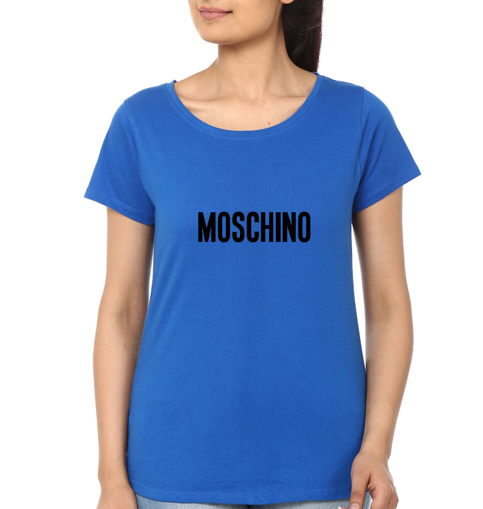 Moschino T-Shirt for Women-XS(32 Inches)-Royal Blue-ektarfa.com