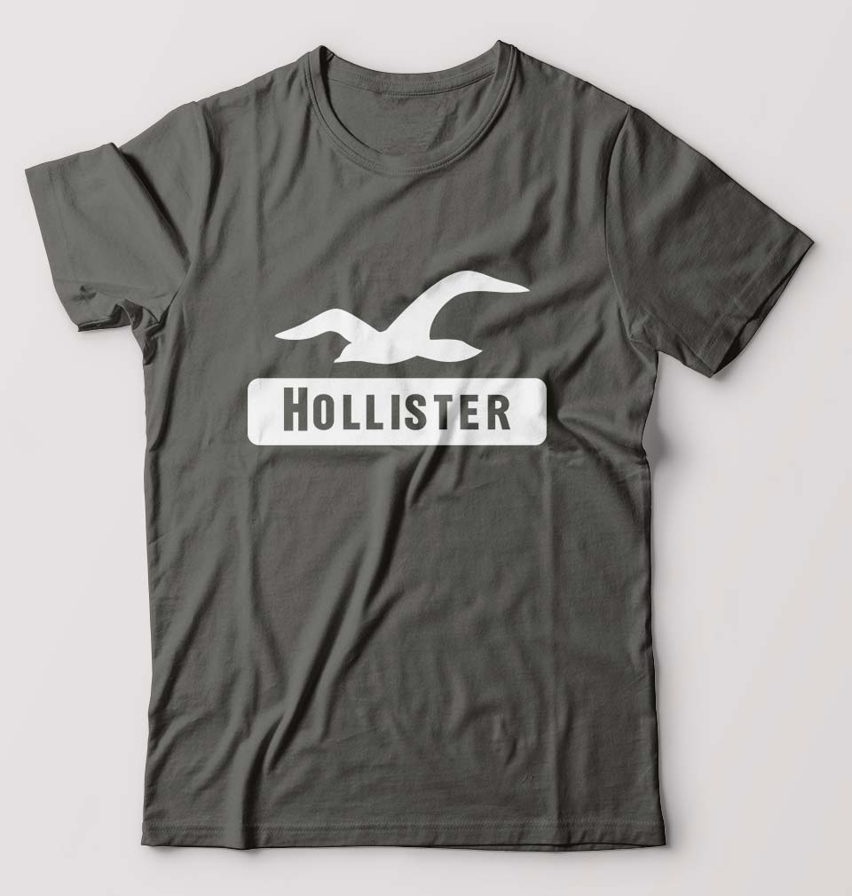 Hollister T-Shirt for Men-S(38 Inches)-Charcoal-ektarfa.com