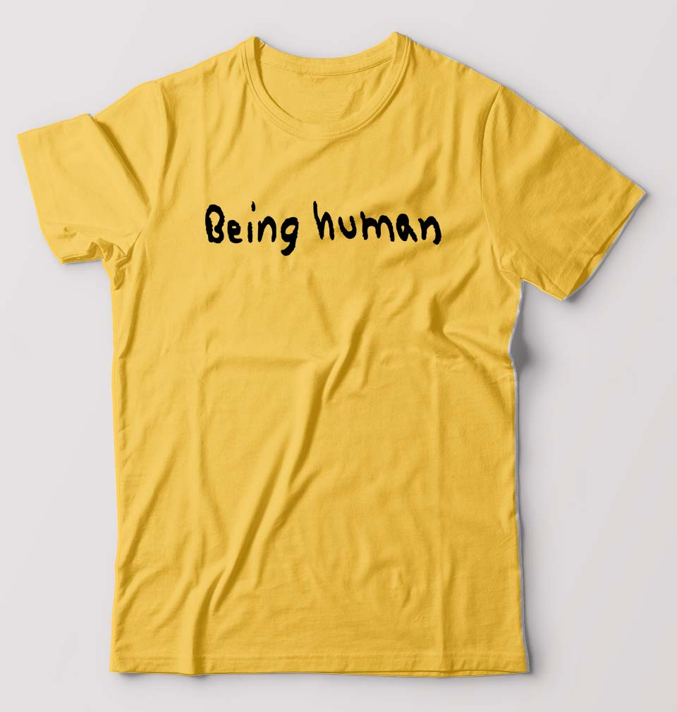 Being Human T-Shirt for Men-S(38 Inches)-Golden Yellow-ektarfa.com