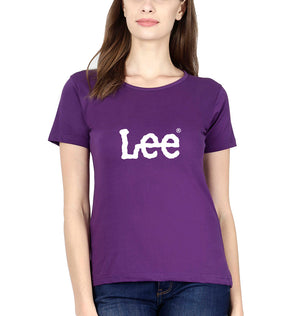 Lee T-Shirt for Women-XS(32 Inches)-Purple-ektarfa.com