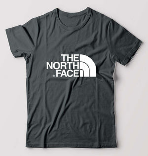 The North Face T-Shirt For Men-M(40 Inches)-Steel grey-ektarfa.com
