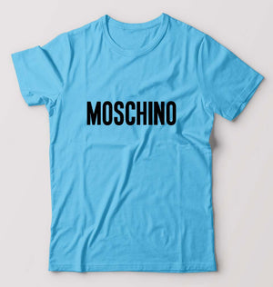 Moschino T-Shirt For Men-M(40 Inches)-Light blue-ektarfa.com