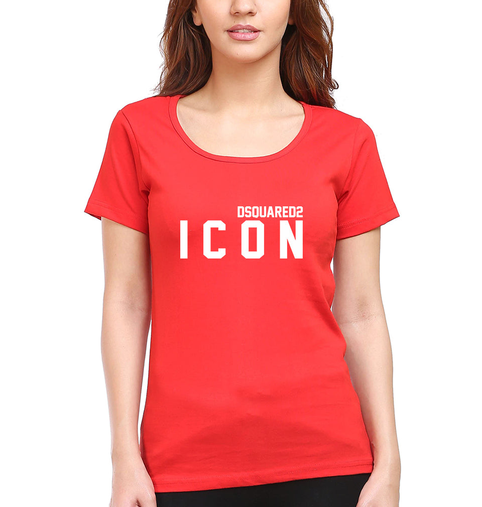 DSQUARED - ICON T-Shirt for Women-XS(32 Inches)-Red-ektarfa.com