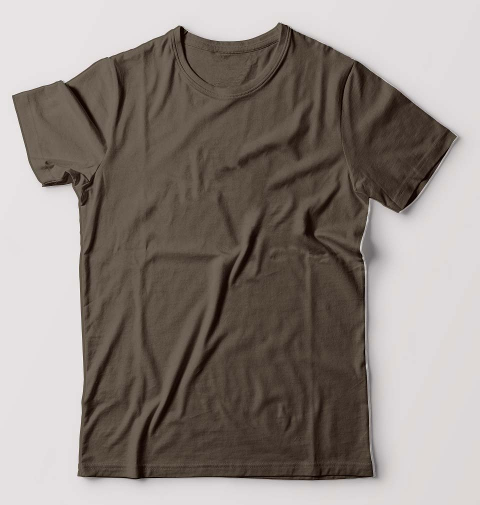 Plain Olive Green Half Sleeves T-Shirt For Men