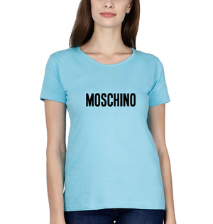 Moschino T-Shirt for Women-XS(32 Inches)-SkyBlue-ektarfa.com