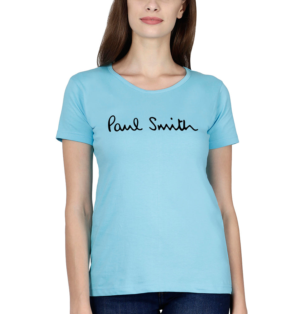 Paul Smith T-Shirt for Women-XS(32 Inches)-SkyBlue-ektarfa.com