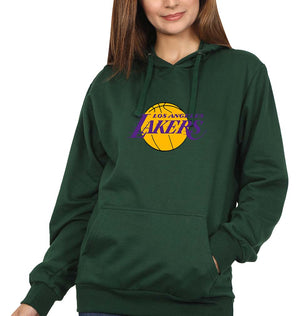 Los Angeles Lakers Hoodie for Women-S(40 Inches)-Bottle Green-ektarfa.com