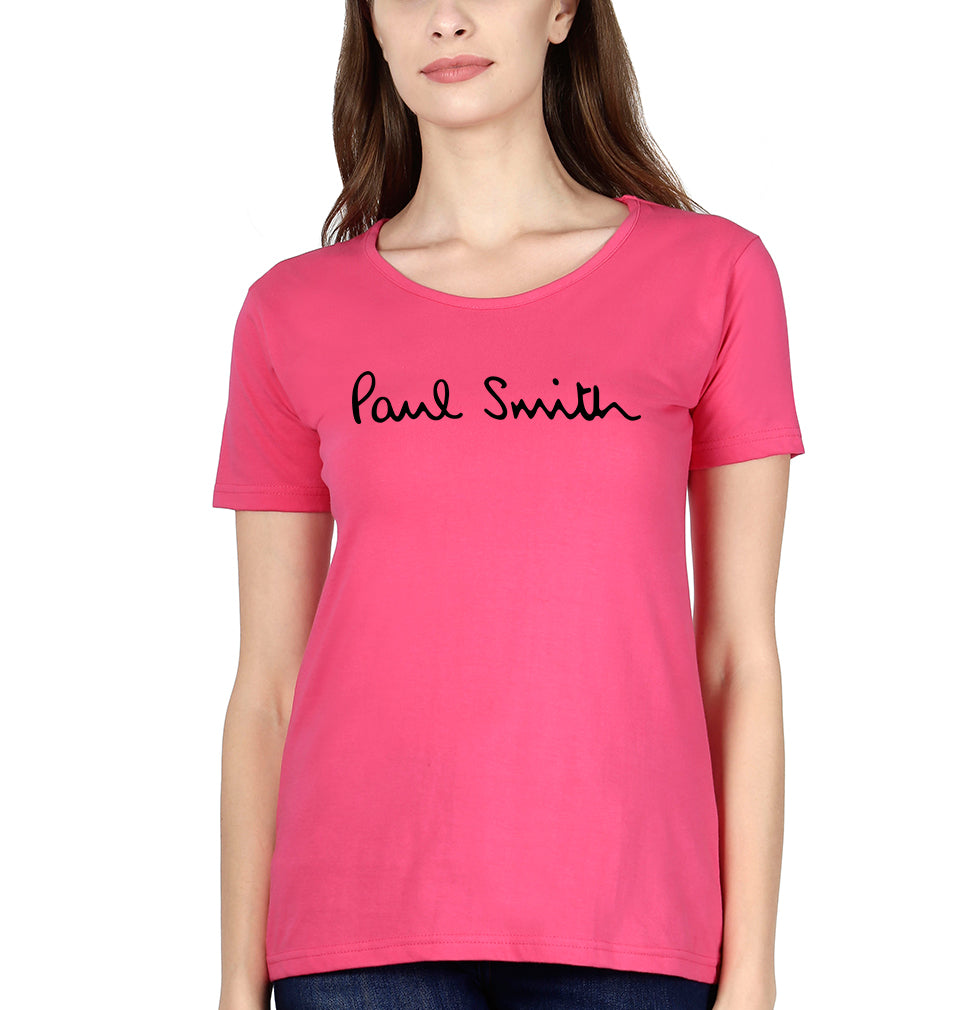 Paul Smith T-Shirt for Women-XS(32 Inches)-Pink-ektarfa.com