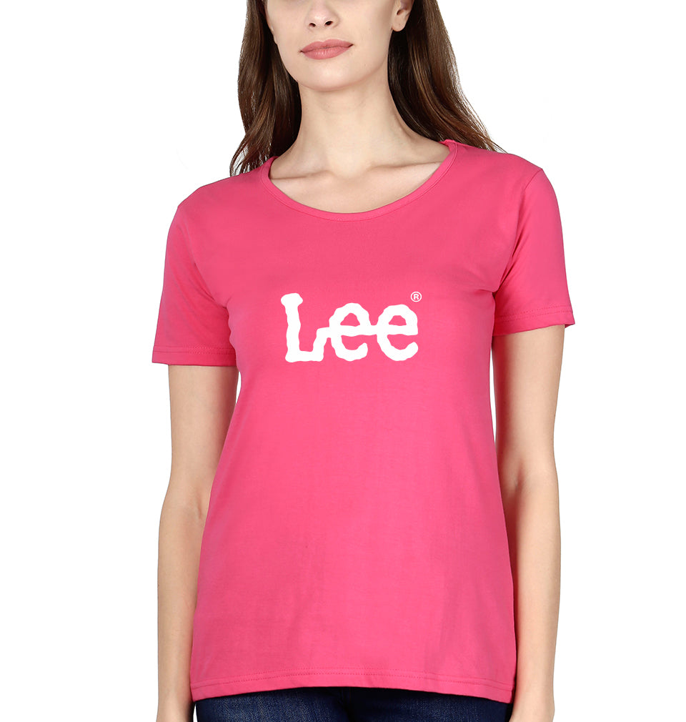 Lee T-Shirt for Women-XS(32 Inches)-Pink-ektarfa.com