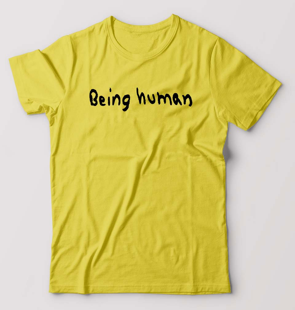 Being Human T-Shirt for Men-S(38 Inches)-Yellow-ektarfa.com