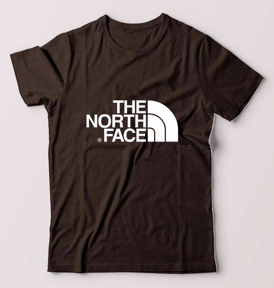 The North Face T-Shirt For Men-S(38 Inches)-Brown-ektarfa.com