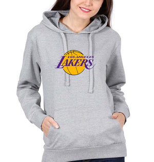 Los Angeles Lakers Hoodie for Women-S(40 Inches)-Gray-ektarfa.com