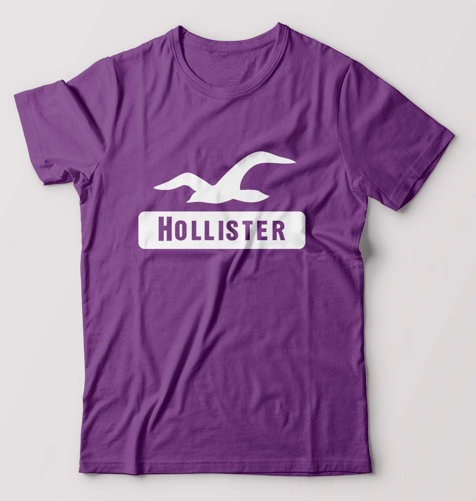 Hollister T-Shirt for Men-S(38 Inches)-Purple-ektarfa.com