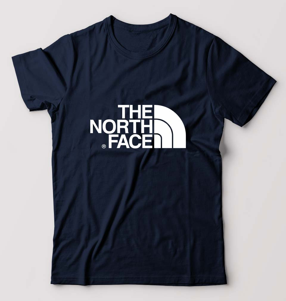 The North Face T-Shirt For Men-M(40 Inches)-Navy Blue-ektarfa.com