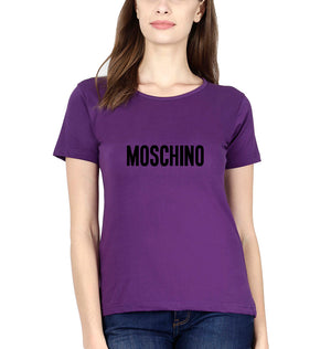 Moschino T-Shirt for Women-XS(32 Inches)-Purple-ektarfa.com