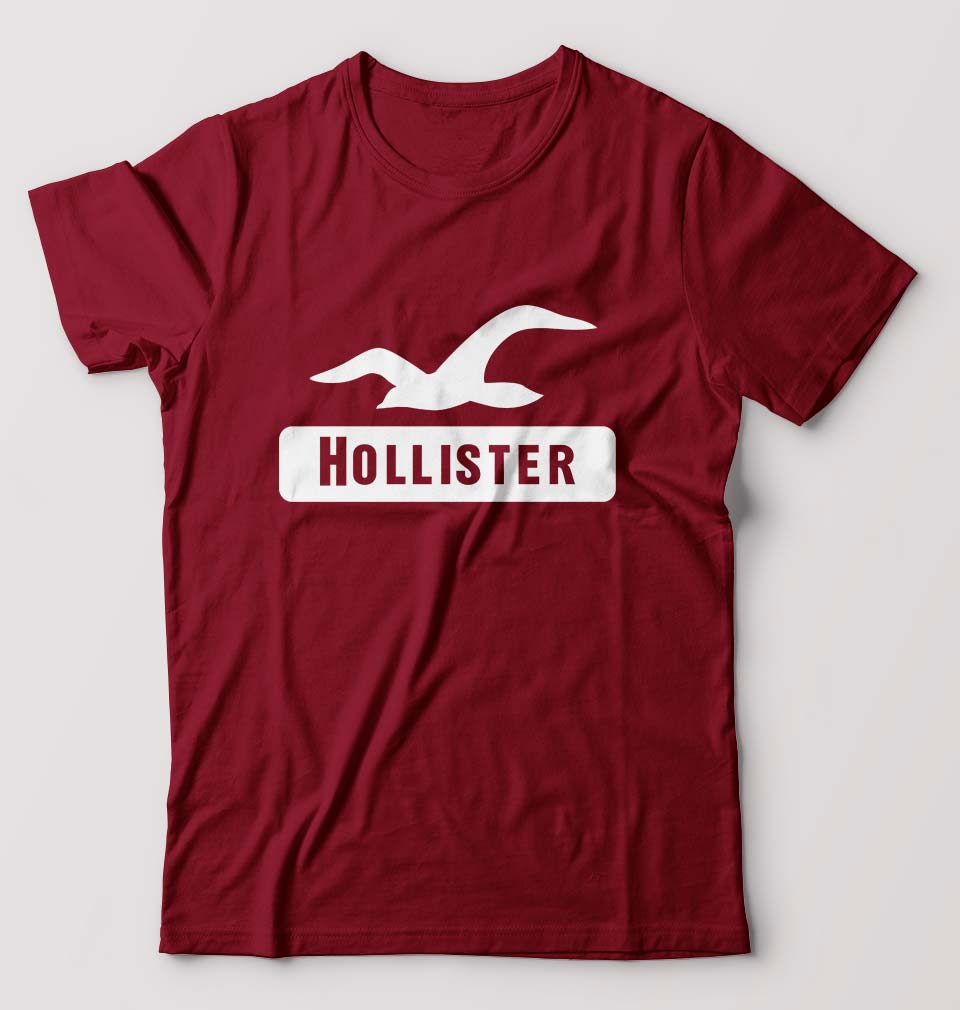 Hollister T-Shirt for Men-S(38 Inches)-Maroon-ektarfa.com