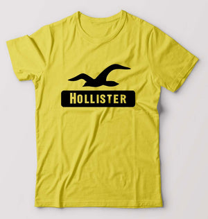 Hollister T-Shirt for Men-S(38 Inches)-Yellow-ektarfa.com