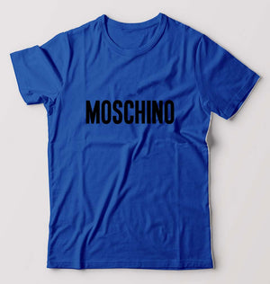 Moschino T-Shirt For Men-M(40 Inches)-Royal Blue-ektarfa.com