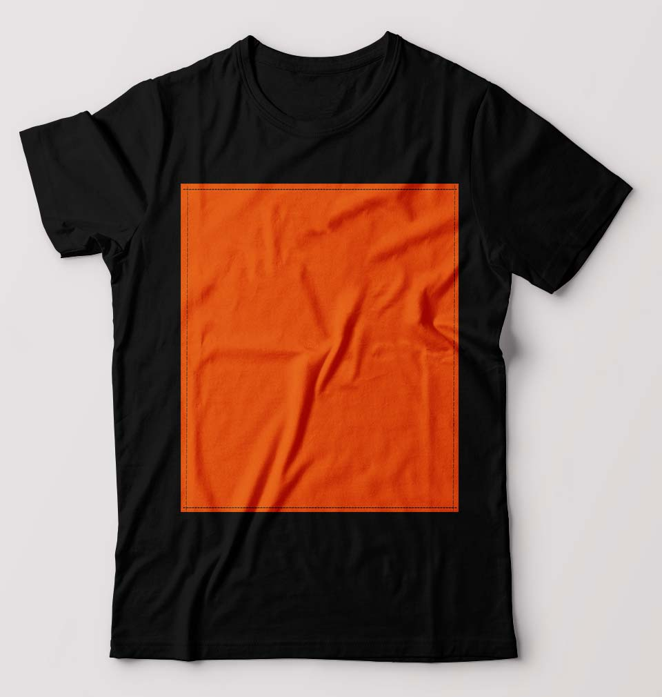 Plain Black Orange T-Shirt for Men