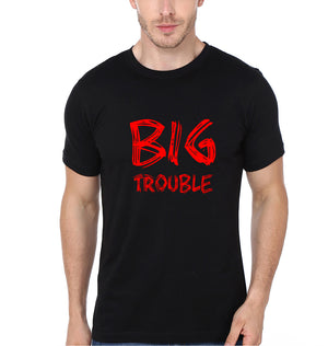 Big Trouble T-Shirt for Men-XL(44 Inches)-Black-ektarfa.com
