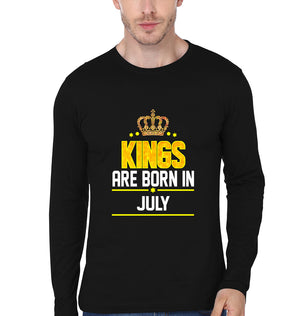 Kings Born July Full Sleeves T-Shirt for Men