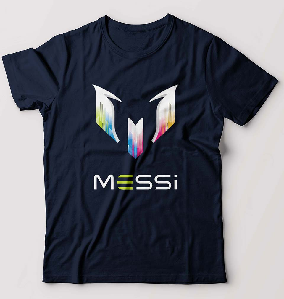 Messi T-Shirt for Men-S(38 Inches)-Navy Blue-ektarfa.com