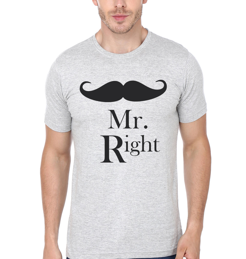 Mr.Right & Mrs. Always Right - ektarfa.com @ Buy Best T-shirts Online in India - 2