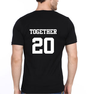 Together 20 T-Shirt for Men-XL(44 Inches)-Black-ektarfa.com